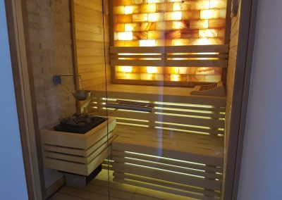 Sauna with Himalayan Salt