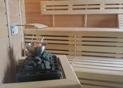 Sauna aus Hemlock und Abachi