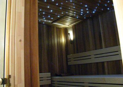 Getäfelte Sauna